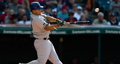 Cheslor Cuthbert bateó dos hits en un juego por segunda vez en esta temporada de las Grandes Ligas. LA PRENSA/Jason Miller/Getty Images/AFP