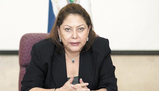 Alba Luz Ramos, presidenta de la Corte Suprema de Justicia. LA PRENSA.