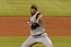El nicaragüense JC Ramírez es hasta el momento el mejor lanzador de la rotación de los Angelinos de Los Ángeles. LA PRENSA/Eric Espada/Getty Images/AFP