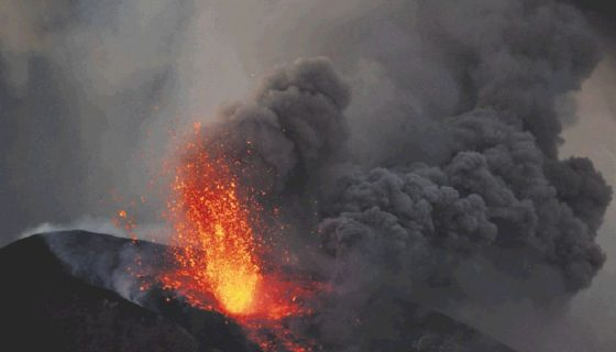 Después de 110 años de inactividad (1905- 2015) el volcán Momotombo erupcionó y dejó una colada de lava que bajó la ladera noreste y se extendió tres kilómetros antes de solidificarse. LAPRENSA/OSCAR NAVARRETE/ARCHIVO