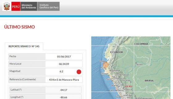Perú, sismo en Perú