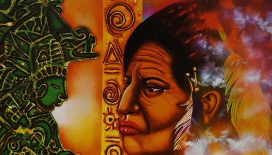 rostros indígenas, Robert Barberena, pinturas, Nicaragua