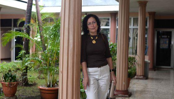 La socióloga Mónica Baltodano describe la situación del poder local en la administración de Daniel Ortega./LAPRENSA/Roberto Fonseca