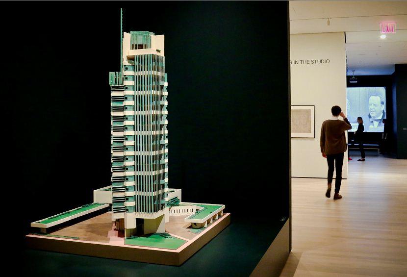 Torre Price, maqueta de 1952, es uno de los tres proyectos que Frank Lloyd Wright realizó en Oklahoma. LAPRENSA/AP
