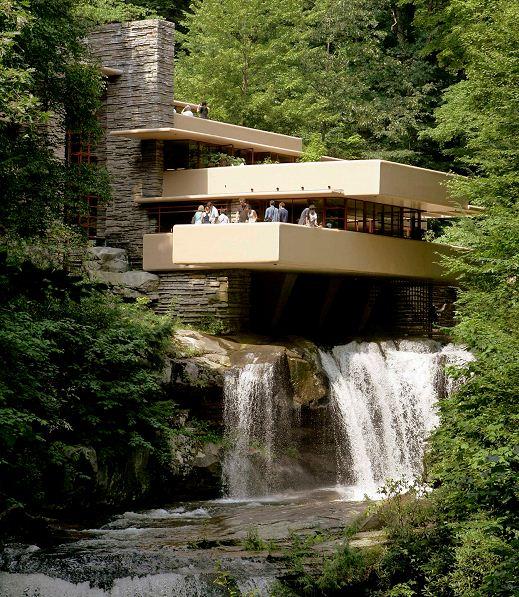 "La residencia Kaufmann, conocida como laCasa sobre la cascada (""Fallingwater"" house) fue diseñada por Frank Lloyd Wright . LAPRENSA/AP"
