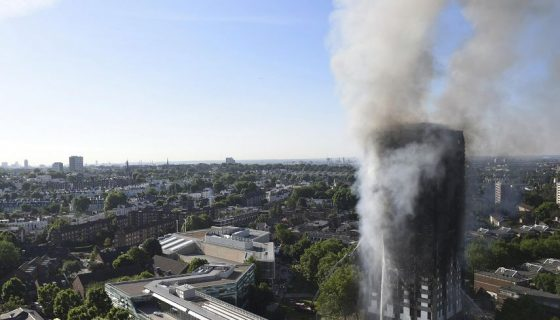 Londres, incendio en edificio