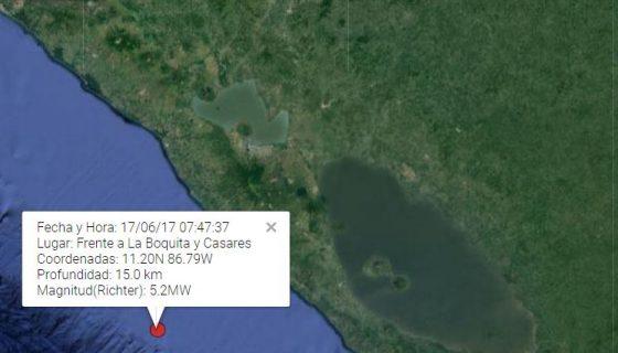temblor, pacífico de nicaragua, sismos
