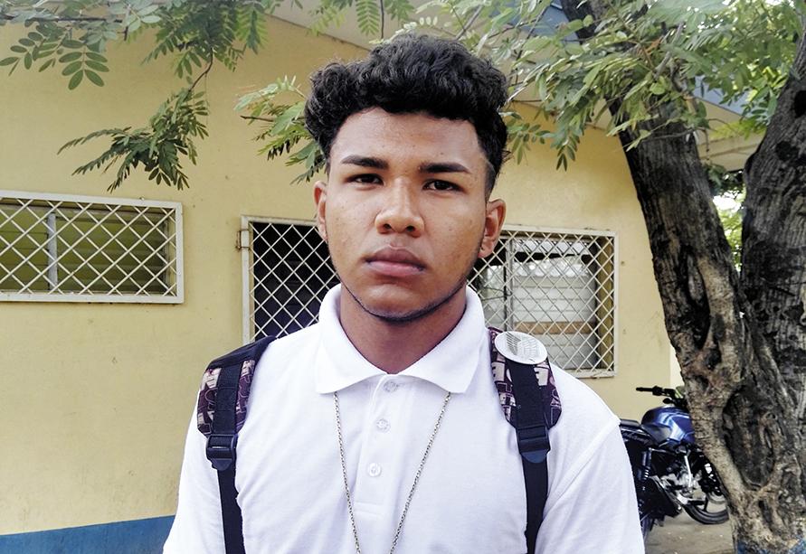 Eliseo Velásquez, alumno que recibió maltrato por oficial de la Policía. LA PRENSA/E. CHAMORRO.