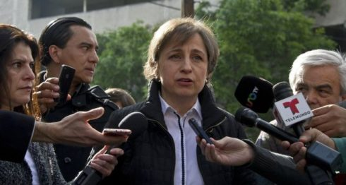 GETTY IMAGES Image caption La periodista Carmen Aristegui ha sido víctima de ciber espionaje.