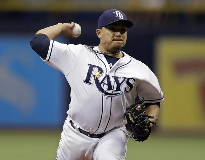 Erasmo Ramírez ponchó a seis bateadores en 5.1 entradas lanzadas ante los Rojos de Cincinnati. LA PRENSA/AP/Chris O'Meara