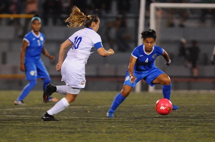 La Selección Nicaragüense de Futbol Femenino Sub-20 demostró un gran nivel de juego frente a Costa Rica, el equipo de mayor jerarquía en Centro América. LA PRENSA/WILMER LÓPEZ