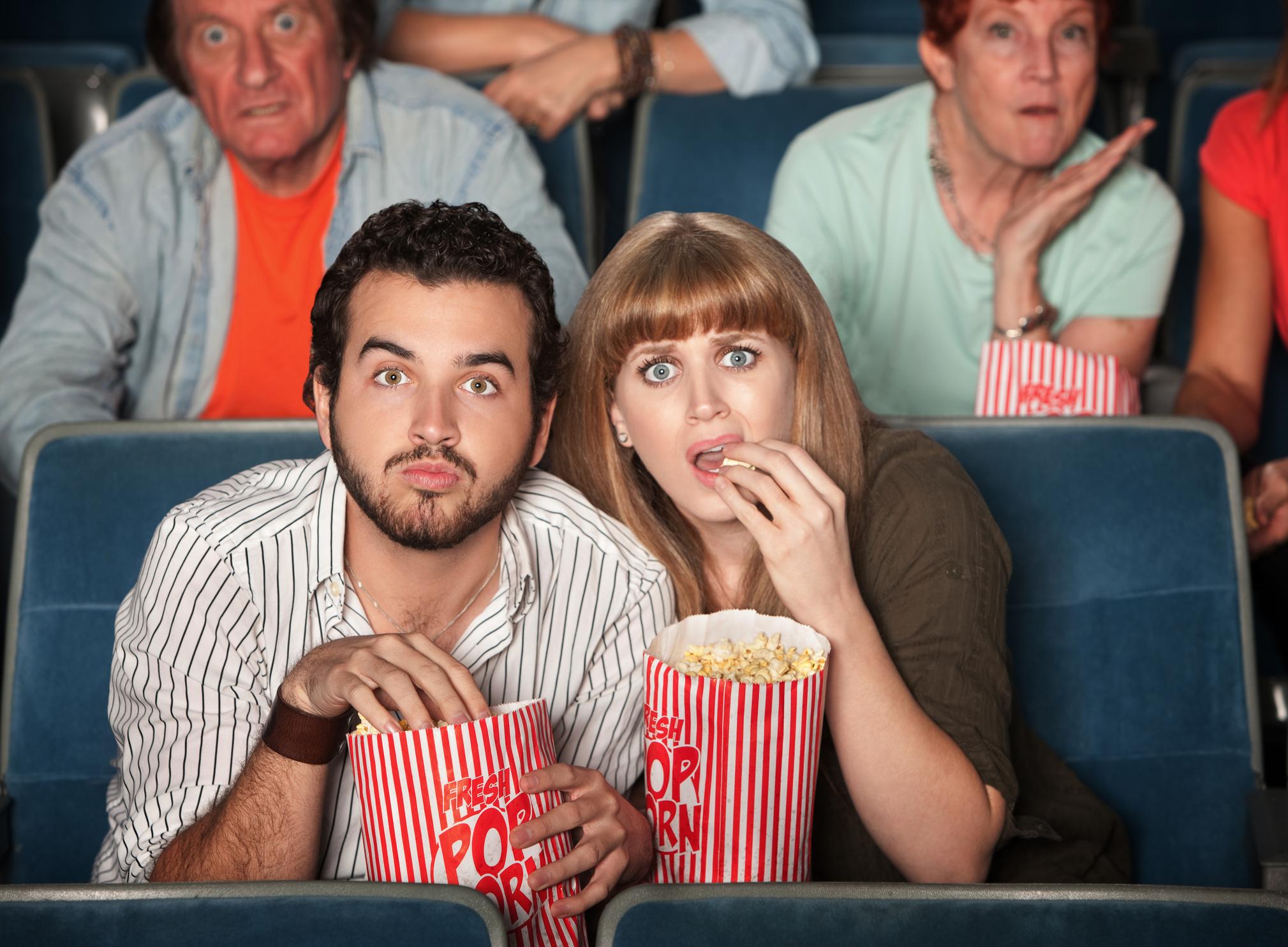 comidas en el cine