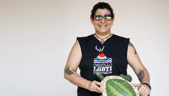 Gaby Baca, cantante y compositora Nicaragüense se confiesa en el ping pong de revista Domingo. Oscar Navarrete/ LA PRENSA