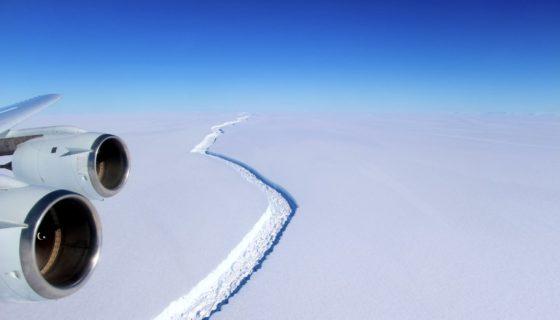 Larsen C, Antártida, barrera de hielo