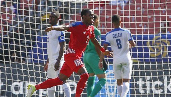 Michael Murillo (2) anotó uno de los tres goles de Panamá frente a Martinica. LA PRENSA/AP/Ron Schwane