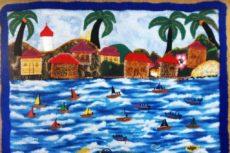 Bahía de Bluefieds, arpillera de Nydia Taylor. LAPRENSA/Arnulfo Agüero