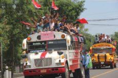 MTI, buses, fsln, 19 de julio