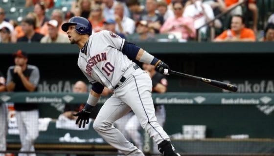 Yulieski Gurriel conectó su jonrón 12 de la temporada, en el triunfo de los Astros de Houston sobre los Orioles. LA PRENSA/AP/Patrick Semansky