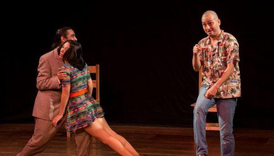 Inauguración del Festival Internacional de Teatro, con la obra Choques amorosos, en el teatro Justo Rufino Garay. LA PRENSA/Jader Flores