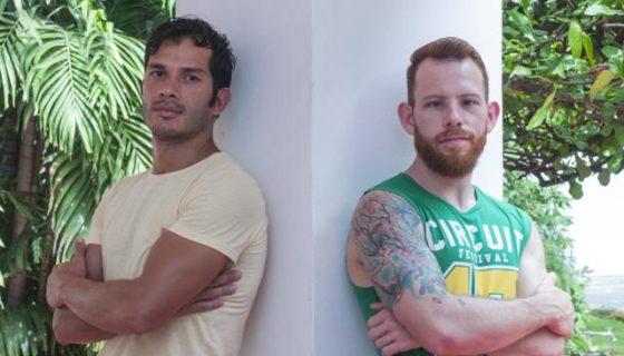 Fabio Perez y Andy Gamboa de Costa Rica presentan la obra Cuerpos ausentes o Ensayos para mi muerte. LA PRENSA/Wilmer López