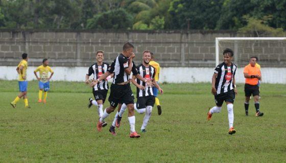 Luis Gutiérrez celebra el primer gol de Diriangén sobre la UNAN-Managua, que todavía no conoce la victoria en el Torneo Apertura. Foto: Roberto Fonseca.