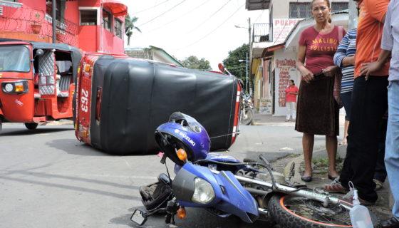 Diriamba, accidentes de tránsito