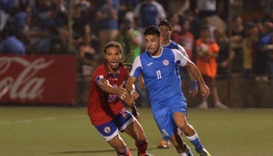 Juan Barrera marcó tres goles para que Nicaragua fuera a Copa Oro. Foto: Jader Flores/LA PRENSA