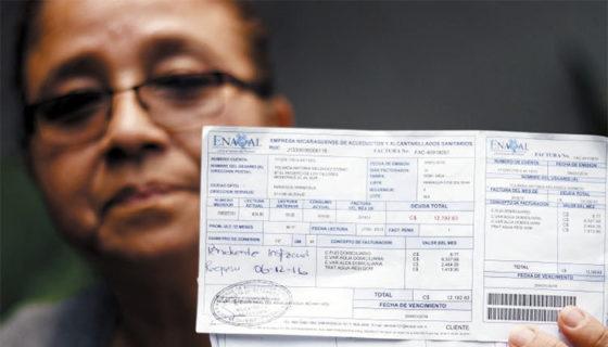 Yolanda Meléndez debe 28 mil córdobas en dos recibos de agua.