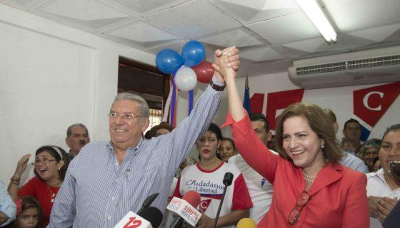 Managua 14 de Agosto del 2017.Azalia Aviles,Ex-presidenta del PC es presentada como candidata a Vice- Alcaldesa por CxL y Mauricio Mendieta Candidato a Alcalde, confían en acuerdos con OEA. LA PRENSA / Uriel Molina