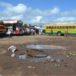 Falta reparar la terminal de buses del mercado de Masaya