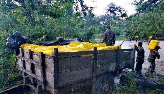 Contrabando de queso, Jalapa, Honduras, Ejército de Nicaragua