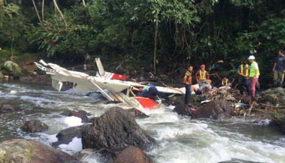 Costa Rica, accidente aéreo
