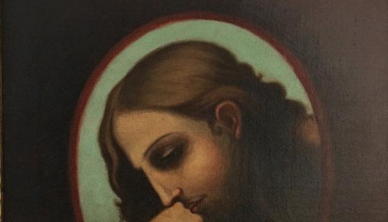 Rostro de Cristo, retrato, 1916, de Alonso Rochi. LAPRENSA/Cortesía