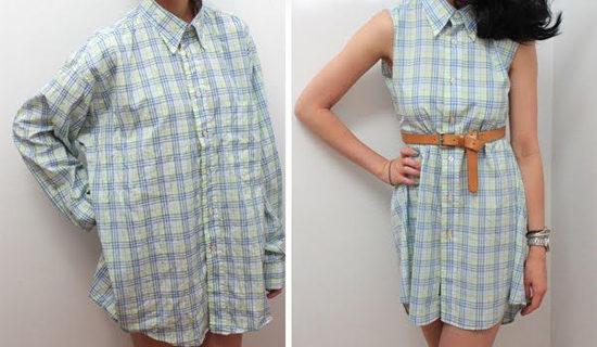 Las camisas, vestidos, jeans son algunas de las prendas que puede transformar para lucir a la moda.