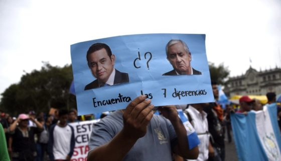 Guatemala, Jimmy Morales., Otto Pérez Molina