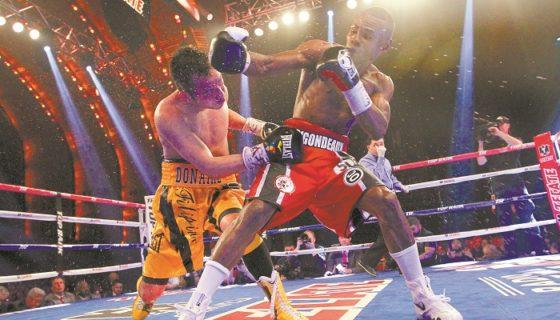 Guillermo Rigondeaux (derecha) subirá a las 130 libras para enfrentar a Vasyl Lomachenko. LA PRENSA/ARCHIVO/AP/Mary Altaffer