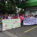 Ex cañeros protestan frente a Secretaría del FSLN