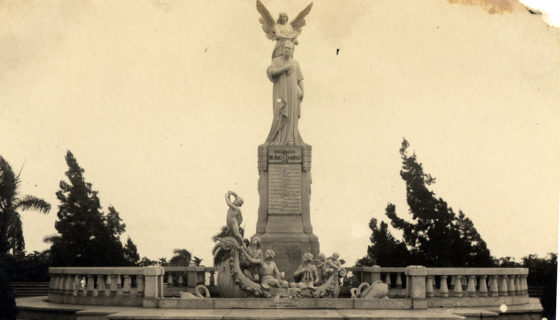 Una imagen del monumento a Rubén Darío, poco después de su inauguración, ocurrida el 24 de septiembre de 1933, hace exactamente 84 años.